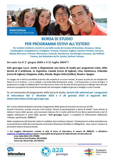 Per Borsa Estivi Studio Shrcdtq Programmi All'estero Di 6yY7bfg